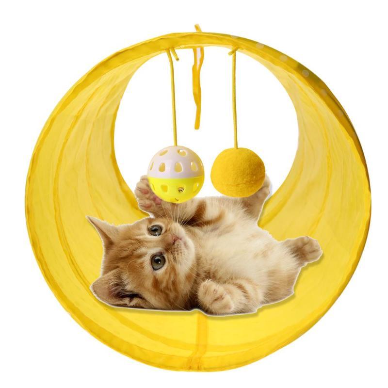 Engraçado Gato de Estimação Túnel Túnel de Brincar de Gato Tubos Dobra Dobrável Gatinho Gato Brinquedo Furões Coelho Cat Play Toy