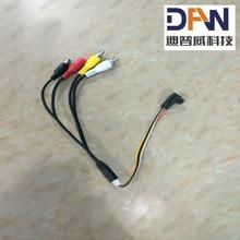 Cable de vídeo auto iris jack a AV y DC para transmisor de vídeo inalámbrico de 1,2G 5 W
