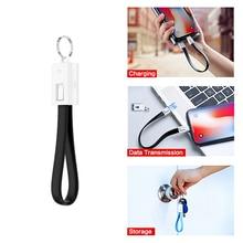 Llavero con micro USB Cable cargador rápido Multi-función de sincronización de alimentación de datos Banco de cable para iphone X tipo-C de cables de teléfono móvil
