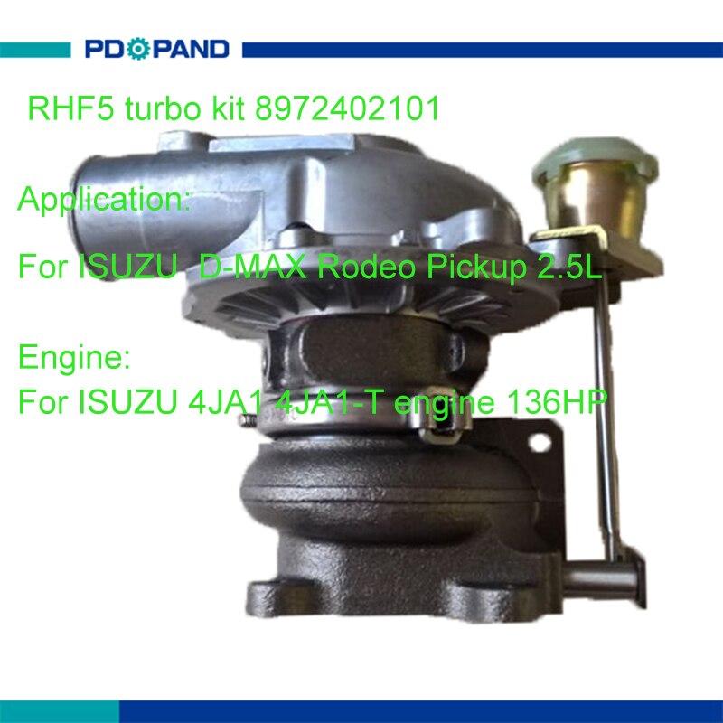 turbo charger kit RHF5 supercharger compressor 8972402101 8971856452 8973295881 for ISUZU D-MAX Rodeo pickup 2.5L 4JA1 engine