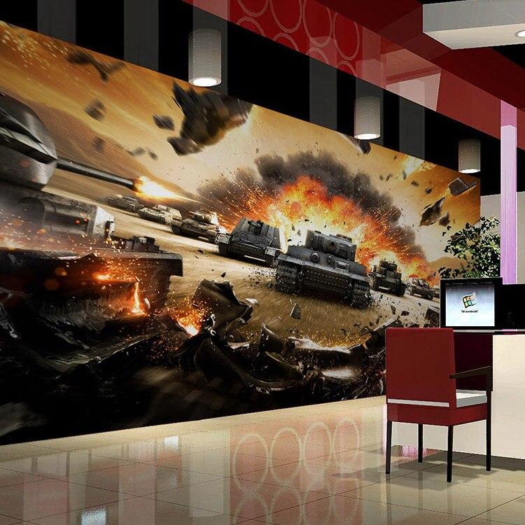 3d фотообои для гостиной, Интернет-кафе, ТВ-фон, обои для игровой комнаты