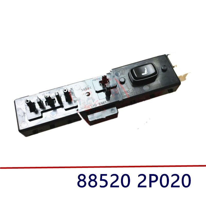 Interruptor de ajuste del asiento izquierdo genuino para KIA Sorento 2011-2015 885202P020 88520 2P020
