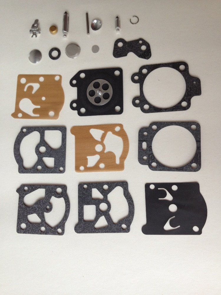 5 conjuntos de Kit de reparo do Carburador Carb K20-WAT WA peças fits Walbro WT com Diafragma Reconstruir Junta trimmer, motosserra, weedeater, echo
