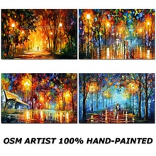 Peinture à lhuile paysage abstraite de haute qualité   Artiste de haute compétence, fait à la main, peinture sur toile, couleur vive, peinture de rue