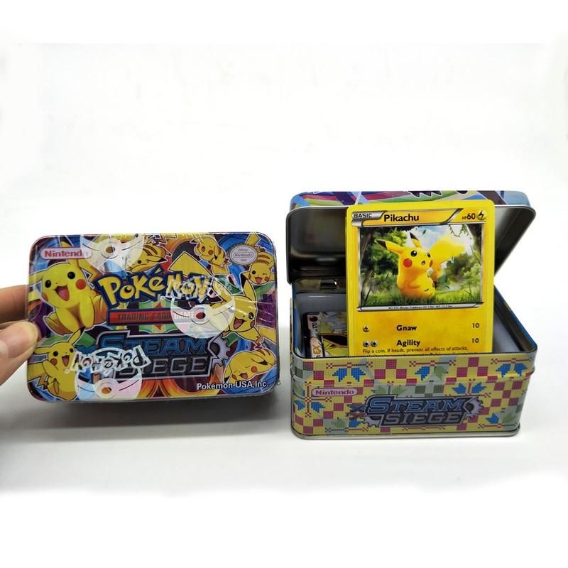 42 cartas/caja GX MEGA Pokemon juego de cartas brillantes batalla Cartes pokemon juego de cartas coleccionables niños juguetes de Pokémon