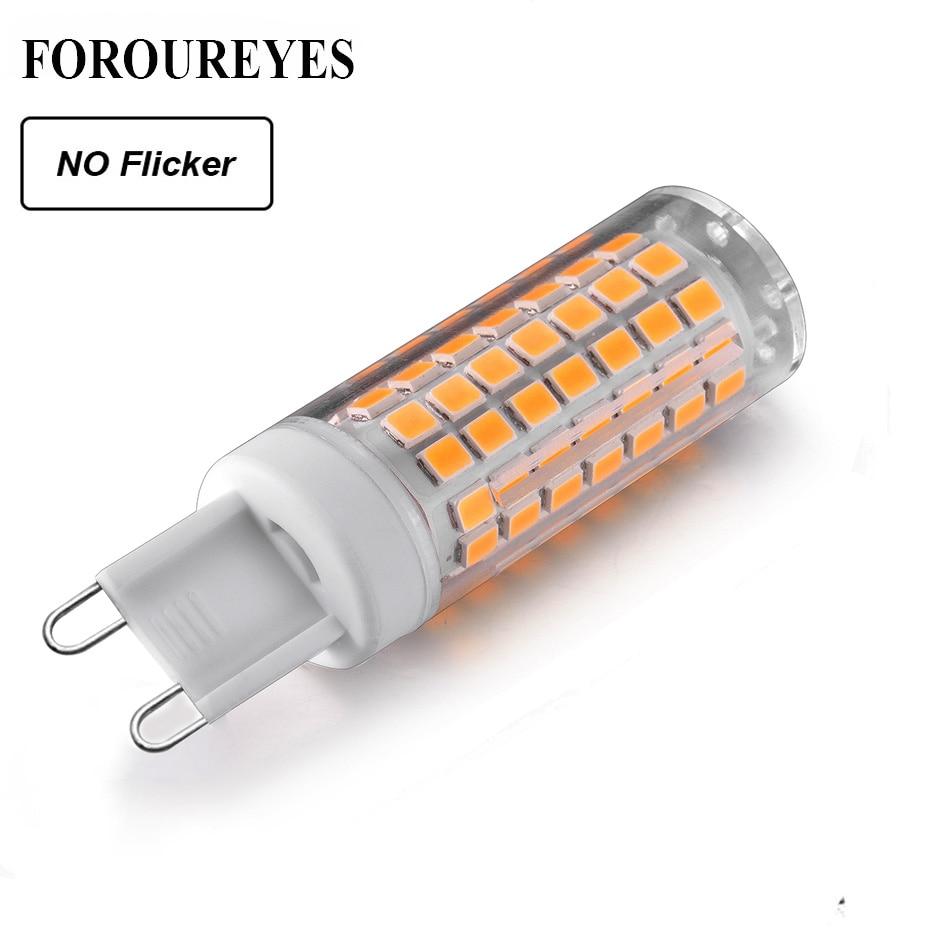 Lámpara LED G9 AC220V 110V bombilla LED regulable sin parpadeo 2835SMD 6W 690LM lámpara de araña superbrillante reemplazar 70W lámpara halógena
