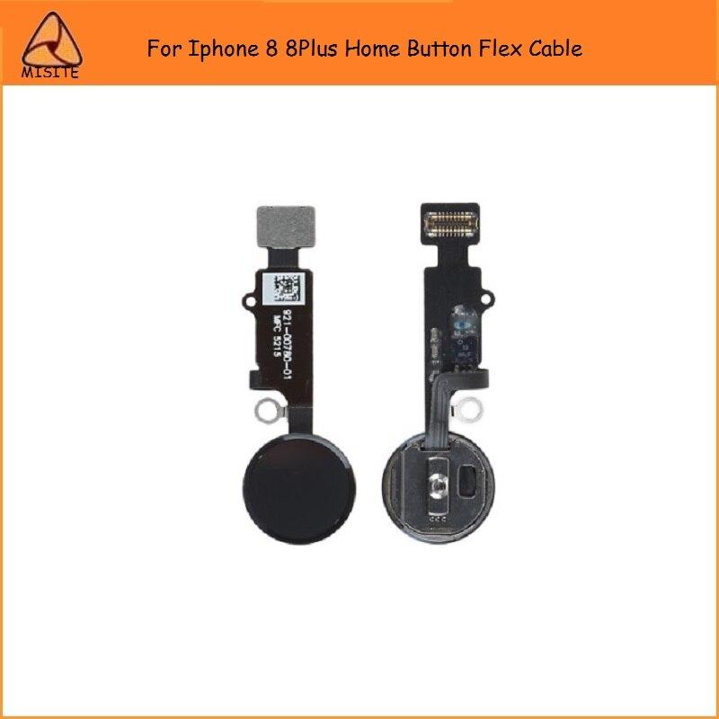 50 unids/lote original botón de inicio flex cable para iphone 8 8G 8Plus 8p Inicio Botón de montaje flex para iphone 8plus inicio menú flex
