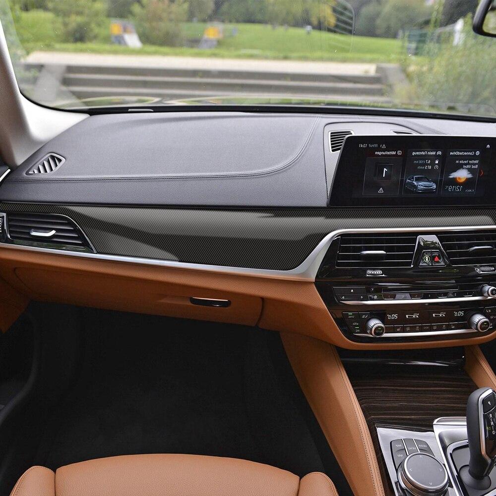 RHD 5D fibra de carbono estilo de vinilo Interior consola de Control Central salida Panel película pegatina para BMW G30 G31 Accesorios