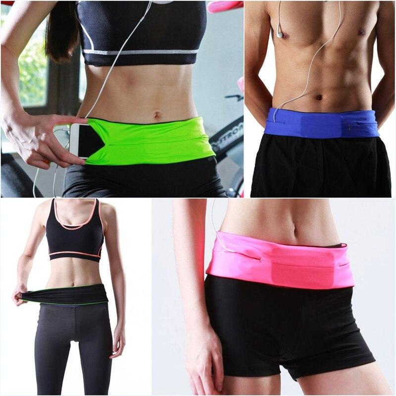 Riñonera para deportes al aire libre, bolsas de gimnasio, riñonera multifuncional, riñonera ajustada, riñonera para Yoga, bolsillos para teléfono móvil Unisex