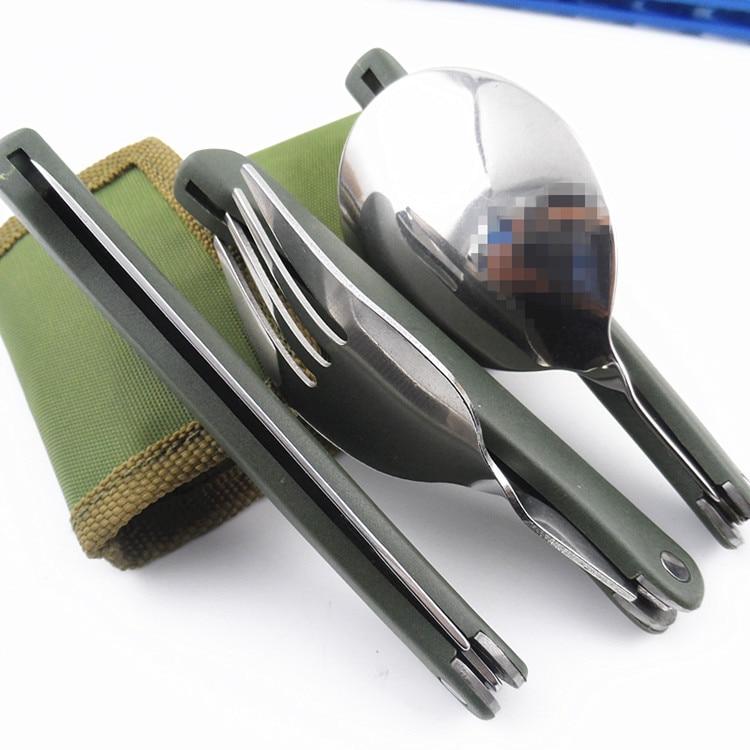 Титановая посуда для кемпинга, складной нож, ложка, вилка, посуда для пикника, походов, путешествий