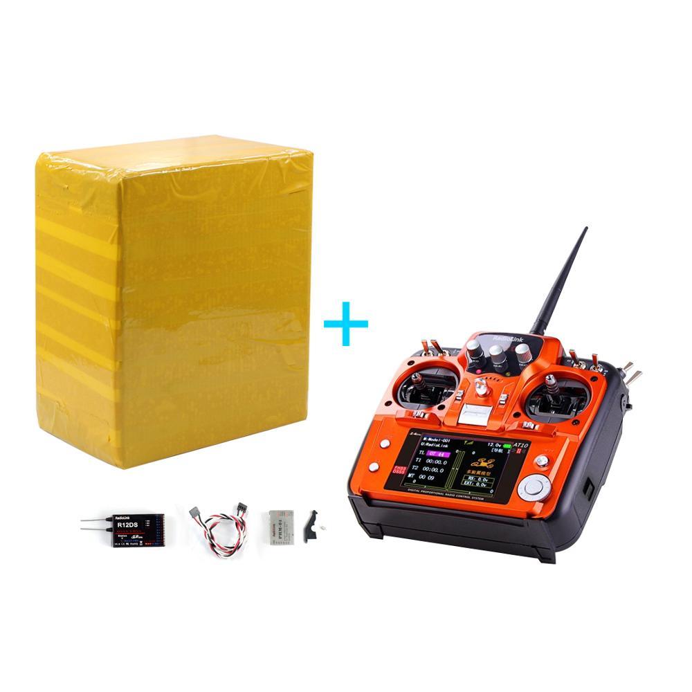 Радиоуправляемый передатчик RadioLink AT10 II 2,4 Ghz 12CH с R12DS приемником PRM-01 модуль возврата напряжения батарея для RC Quadcopte