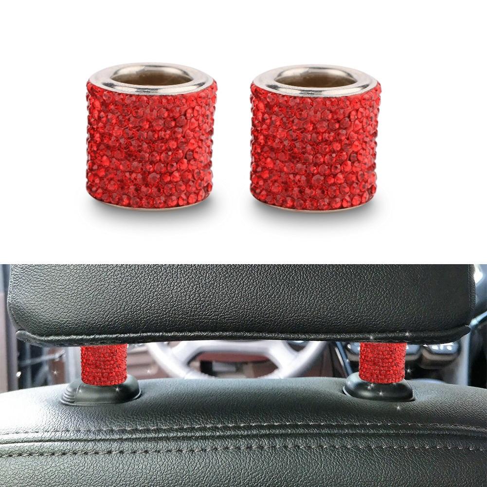 2 uds cristal coche reposacabezas Collar para Peugeot 206, 307, 407, 308, 208, 3008 Toyota Corolla Yaris Rav4 Avensis Mini Cooper