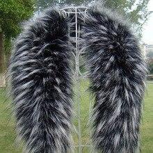 Écharpes en fausse fourrure pour femmes   Col en fourrure, fourrure chaude, hiver, manteau, écharpes, col en fourrure de raton laveur de luxe, vente gratuite