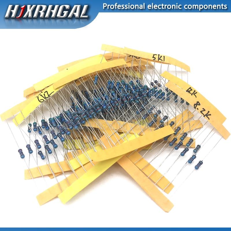 = 240 pcs 1 24valuesX10pcs/4 W 0.25 W 1% 4.7 k-68 k Metal Film Resistor componente diy kit pacote novo e original hjxrhgal