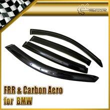 Auto-styling Für BMW E90 4Dr Carbon Faser Wind Deflektor Glänzend Fibre Finish Regen Augenbraue Außen Trim Racing Auto körper Kit