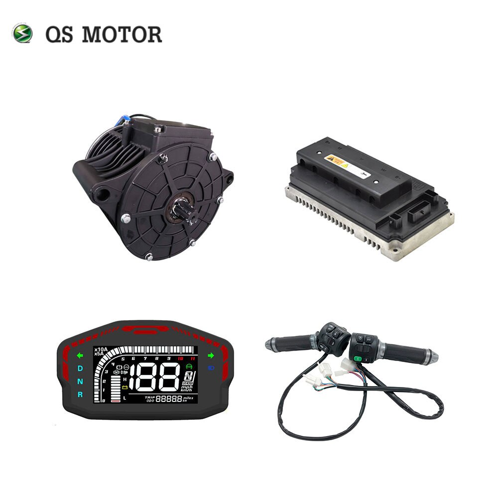 QS 138 3000W 72V 100kph bicicleta motocicleta motor de accionamiento medio kits de tren de potencia con controlador de motor