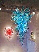 Modern Italian Clear Blue Light Wedding Crystal Chandelier