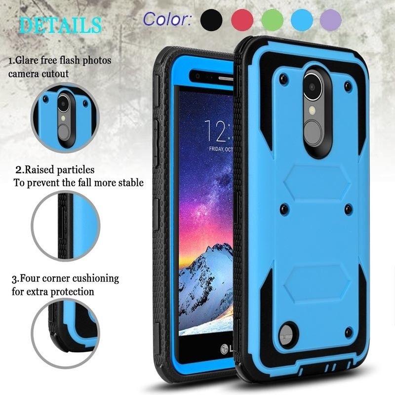 Yumqua caso do telefone móvel para lg k20 plus capa 360 de proteção para lg k10 2017 híbrido caso lv5 volta resistente proteção
