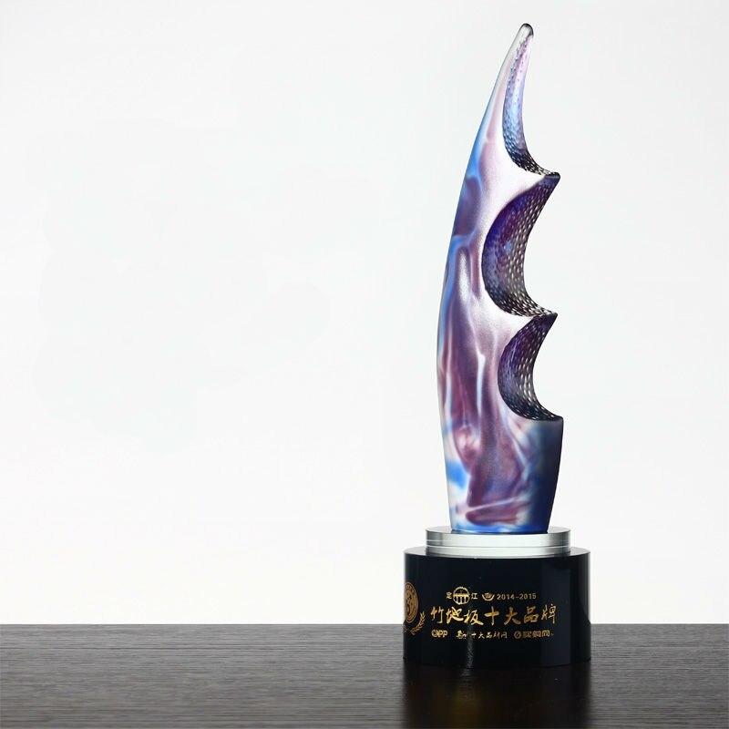 Хит! Высокое качество Роскошный Кристалл Феникс трофей группа большой стеклянный трофей Сувенир Бесплатная печать, бесплатная доставка