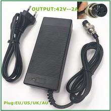 42V2A chargeur de batterie au lithium pour 36V vélo électrique E scooter batterie au lithium pack XLR3 3 broches connecteur femelle