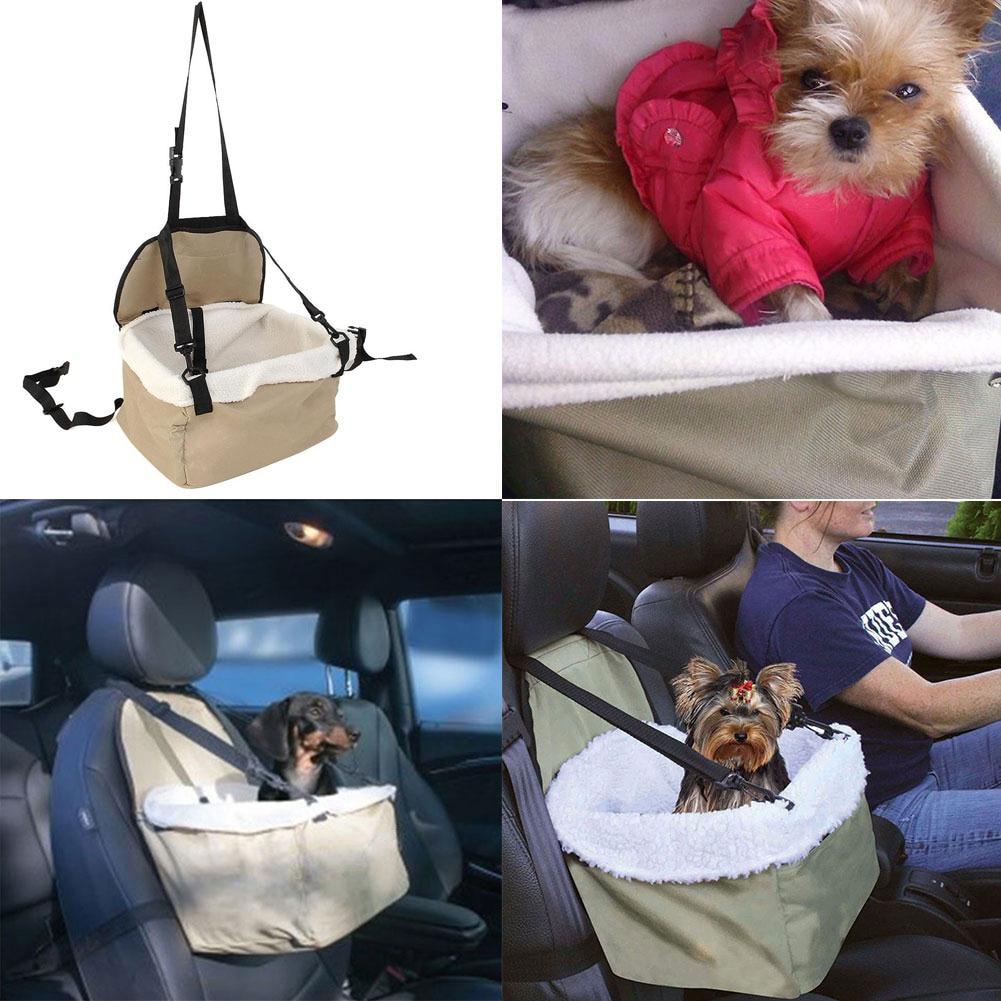 Cachorro ajustable para mascotas gato asiento de coche de gatito práctico asiento Booster portador coche vehículo Correa Let US Travel