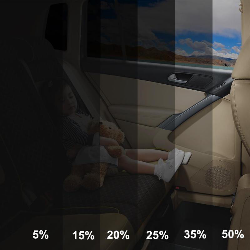 VODOOL 100x50cm VLT czarny samochód strona główna szyba okienna folia barwiąca rolka Auto boczna szyba Solar Protector AntiUV naklejka gorąca absorpcja