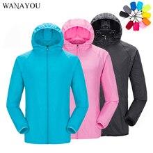Unisexe soleil-protection randonnée vestes coupe-vent peau vestes séchage rapide Anti-UV manteaux extérieur Sports vêtements homme femme S-4XL