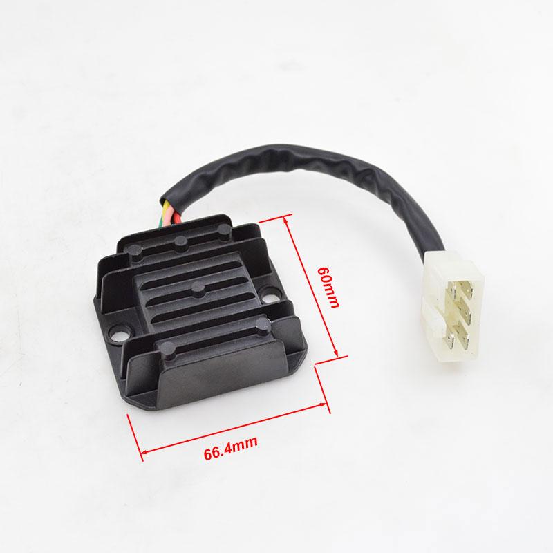 Регулятор напряжения мотоцикла, 5 проводов, выпрямитель для GY6 KYMCO agillity 2T R16 10 Rs Naked 2T 10 Like 2/4T Мопед Скутер ATV TaoTao