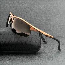 2019 new Aluminum magnesium  Polarized Sunglasses Men Driving Square Frame Sun Glasses Male Classic Unisex Goggles Eyewear FML