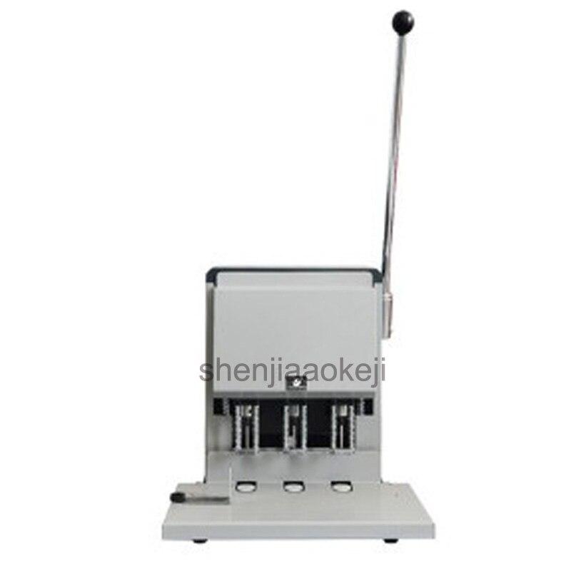 آلة حفر ثلاثية الفتحات 50 مللي متر ، آلة ربط القسيمة المالية ، الكهربائية ، تذكرة ، حجم الحفر 3-8 مللي متر (اختياري)