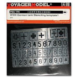 Voyager modelo PEA176 Segunda Guerra Mundial alemán blindado vehículo táctico Número y nacionalidad marca fuga metal grabado