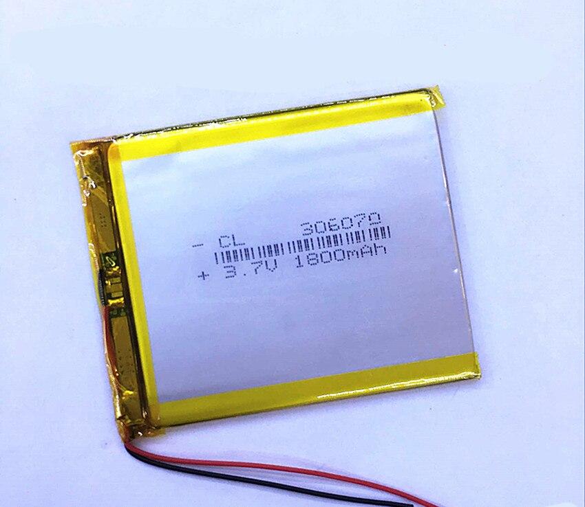 Dinto 1pc 1800mAh 3,7 V 306070 li-polímero batería de litio polímero li-po baterías para GPS PDA PSP Tablet PC banco de energía