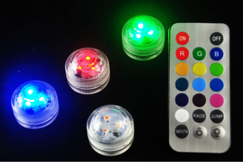10 * LED sumergible impermeable Mini lámpara con batería para jarrón de fiesta de boda decoración de Navidad Base pecera Mesa