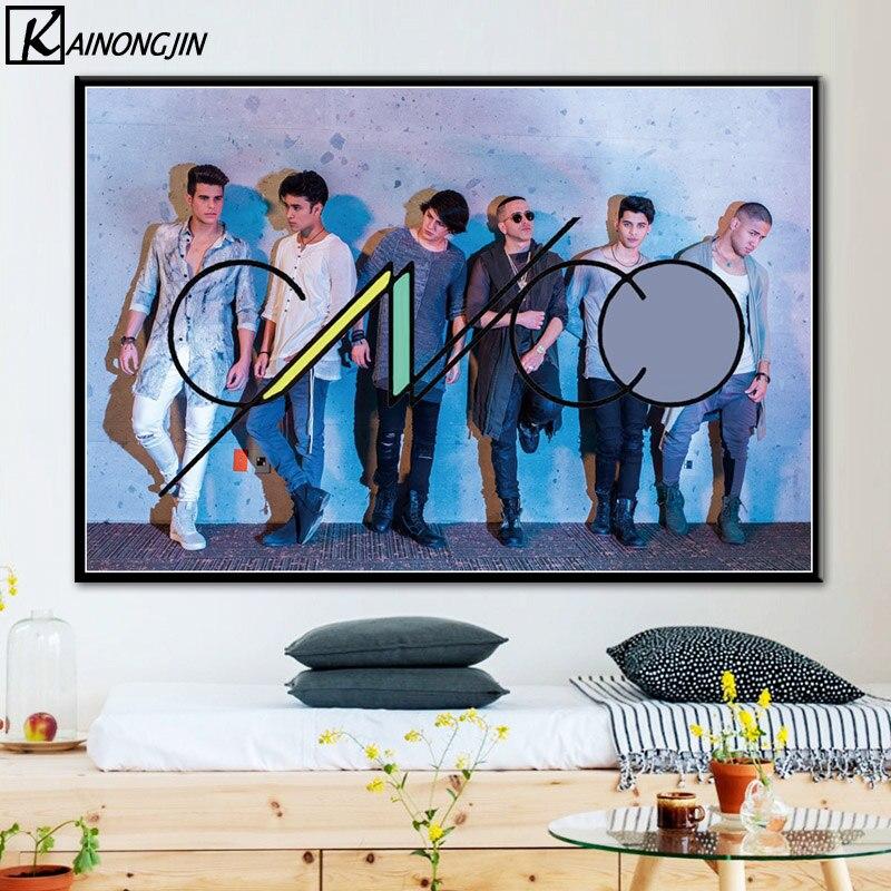 Poster cnco rock música grupo posters e cópias da lona pintura da parede arte para sala de estar decoração casa