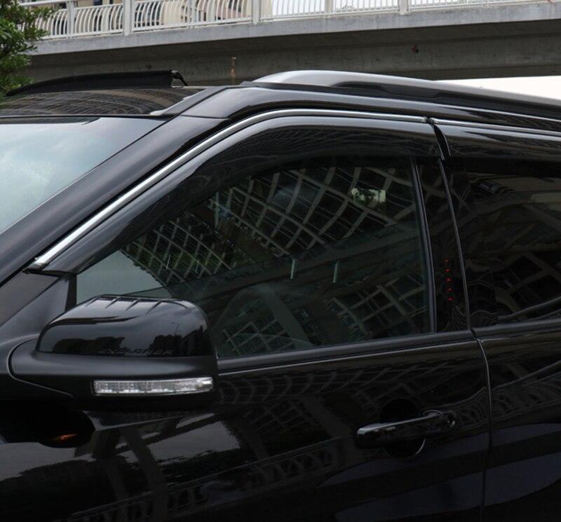 Para FORD explorador 2011-2018 visera parasol de coche de ventilación deflectores lluvia/SOL/viento cubierta de protección para el coche accesorios para el coche