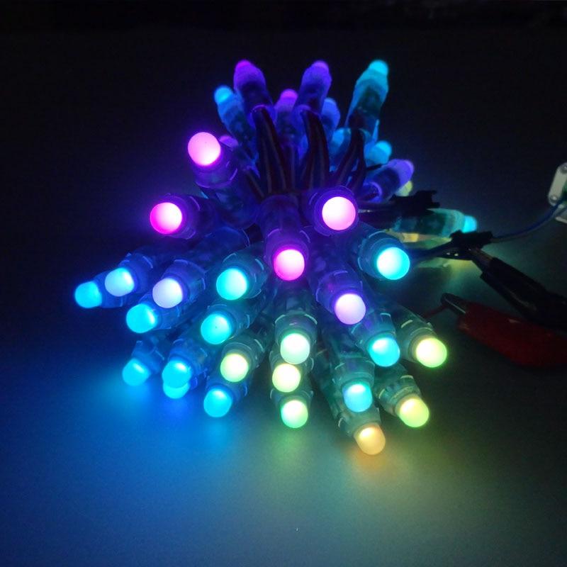 500 Uds 12mm impermeable IP68 DC 5V inputRGB color 2811 IC Digital WS2811 a todo Color LED Luz de píxel módulo LED Luz de Navidad