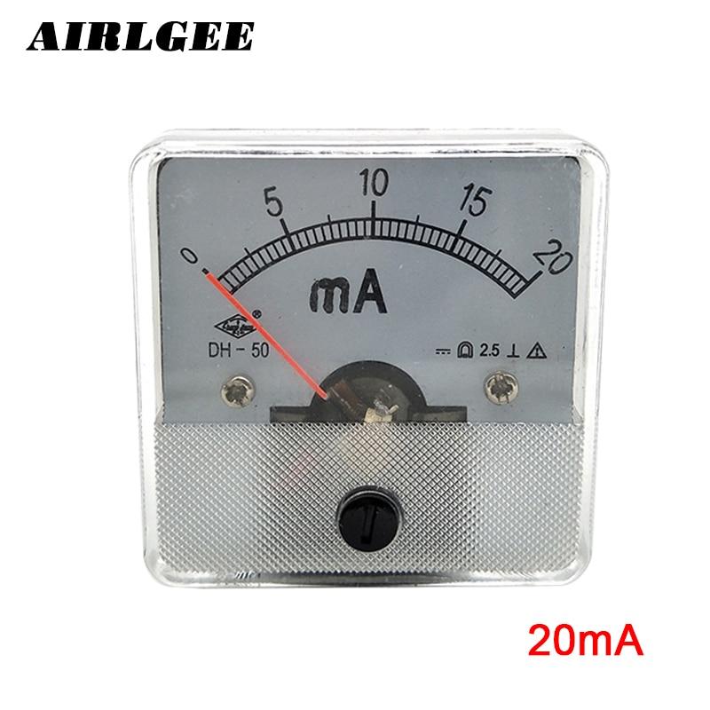 50 Serie Aktuellen Analogen Panel Amperemeter Meter DC ma