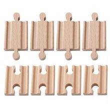 Amis 10 pièces/lot mâle-mâle femelle-femelle Train en bois rails ensemble adaptateurs accessoires ferroviaires jouets éducatifs bloques