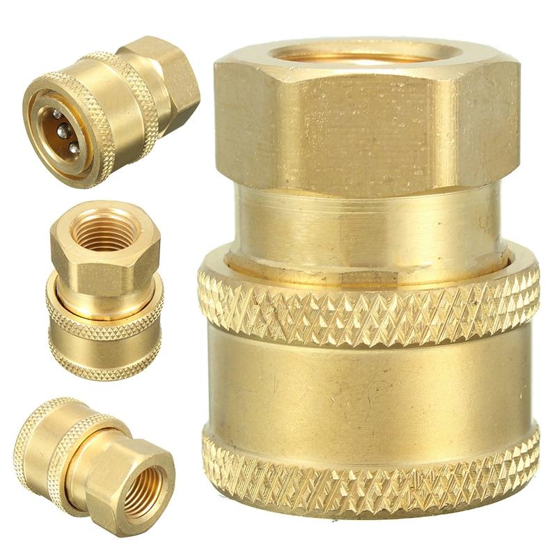 1/4 быстроразъемный шланг для мойки под давлением разъем адаптера для BSP1/4 гнездовые садовые соединители для воды