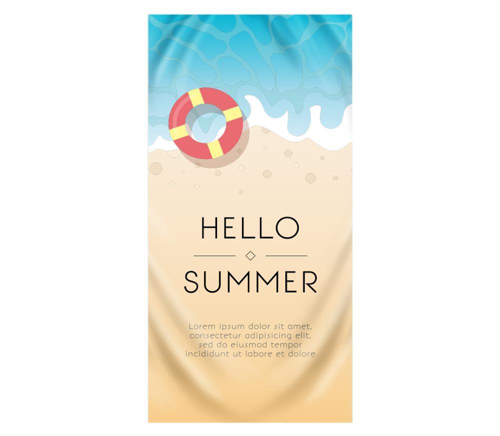 Hello Cool Summer Large Beach Towel For Adults Women Girl Kid Microfiber Big Pool Sport Gym Sport Sand Yoga Swimming Bath Towels
