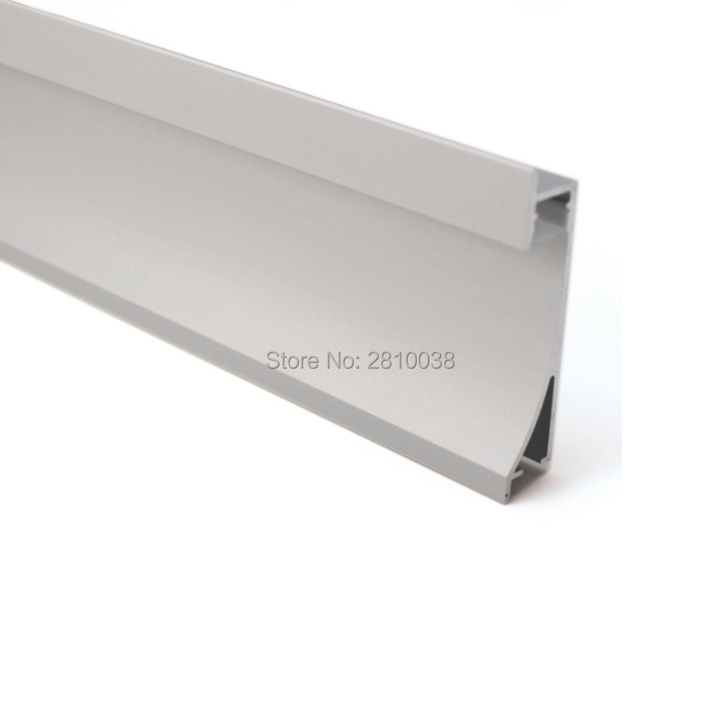 100 X 2M Sets/Lot Wall washer led aluminum channel profiles and aluminium led extrusion housings for wall lighting