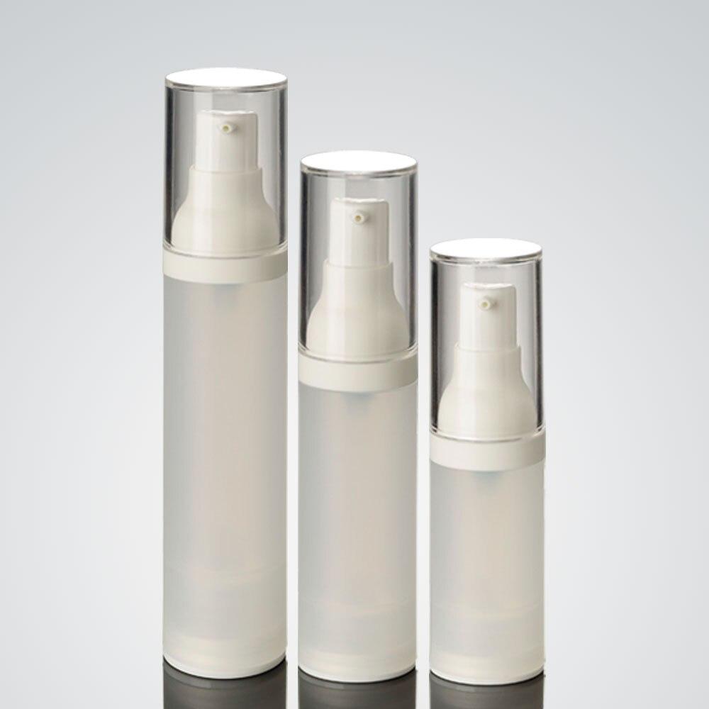 زجاجة ضغط فراغ كورية ، زجاجة مستحضرات تجميل بلاستيكية 15 مللي ، زجاجة بدون هواء ، تعبئة النقاط ، زجاجة تفريغ صغيرة ، 100 قطعة ، 15 مللي