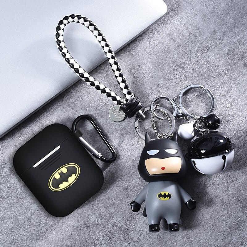 Batman de Marvel TPU inalámbrica Bluetooth para auriculares de silicona suave/16mm/20mm/25mm/30mm/40 de la cubierta protectora para Apple Airpods caso de carga impermeable