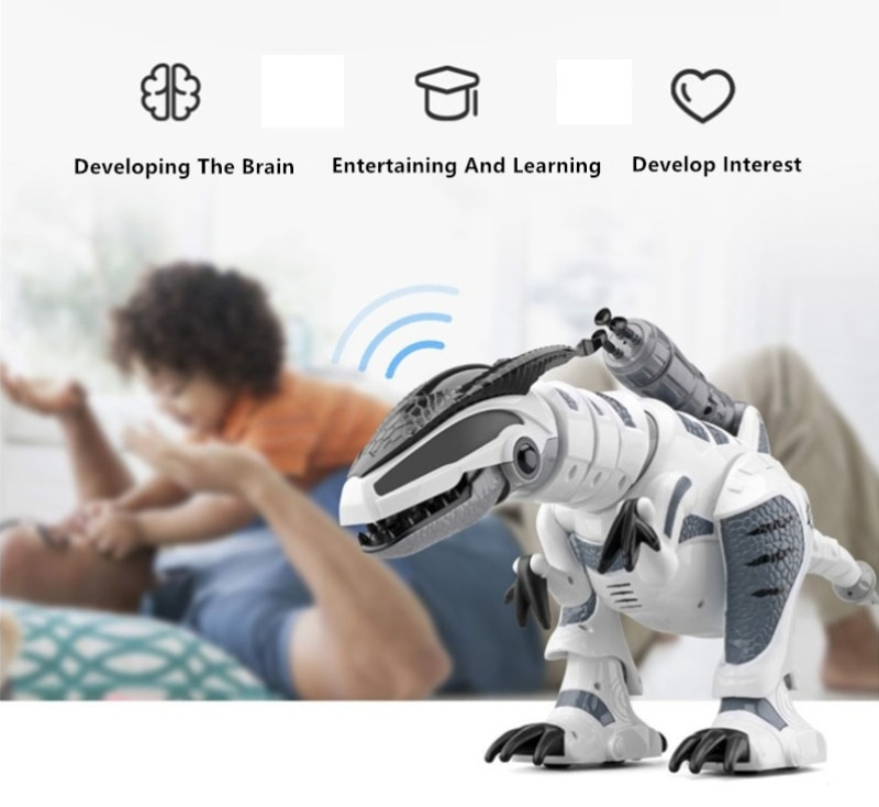 Electric Pet Toy K-9 Walking Sing Simulation RC Battle Animal Robot Interactive Intelligent Dinosaur Toy With Launch Soft Bullet enlarge
