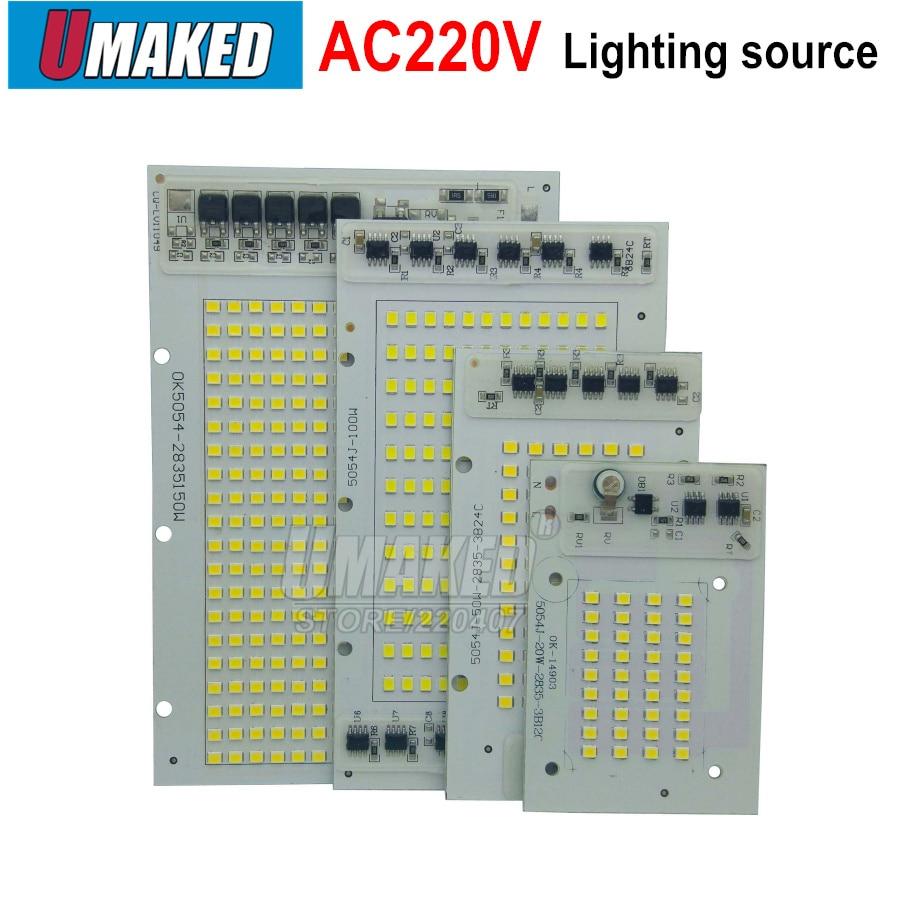 1 lámpara de chip bombillas LED COB IC inteligente 220V 200W 150W 100W 50W 30W 20W para reflector de exterior blanco cálido/blanco de alta calidad