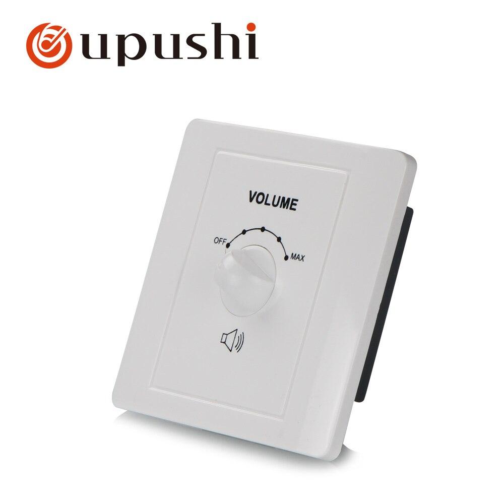 Controlador de volumen de altavoz 100 V, mando de control de volumen giratorio de montaje en pared para sistema Oupushi pa