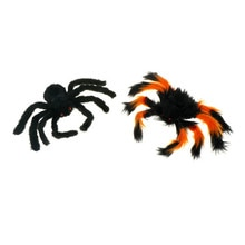 1Pc 30cm Creep Trick Or Treat Halloween Decoration New Halloween Horrible Big Black Furry Fake Spider