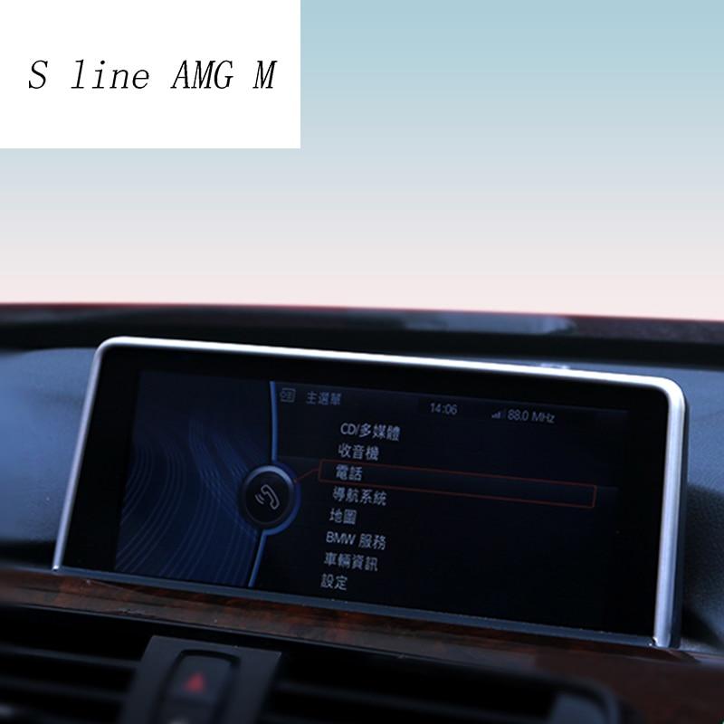 רכב סטיילינג ניווט דקורטיבי מסגרת רצועת מכסה מדבקות לקצץ עבור BMW 1 2 3 4 סדרת F22 קופה F20 F30 f34 אוטומטי אבזרים