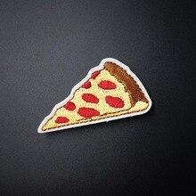 피자 (크기: 3.5x6.0 cm) diy 헝겊 배지 장식 패치 청바지 자켓 가방 의류 의류 봉제 장식 아플리케