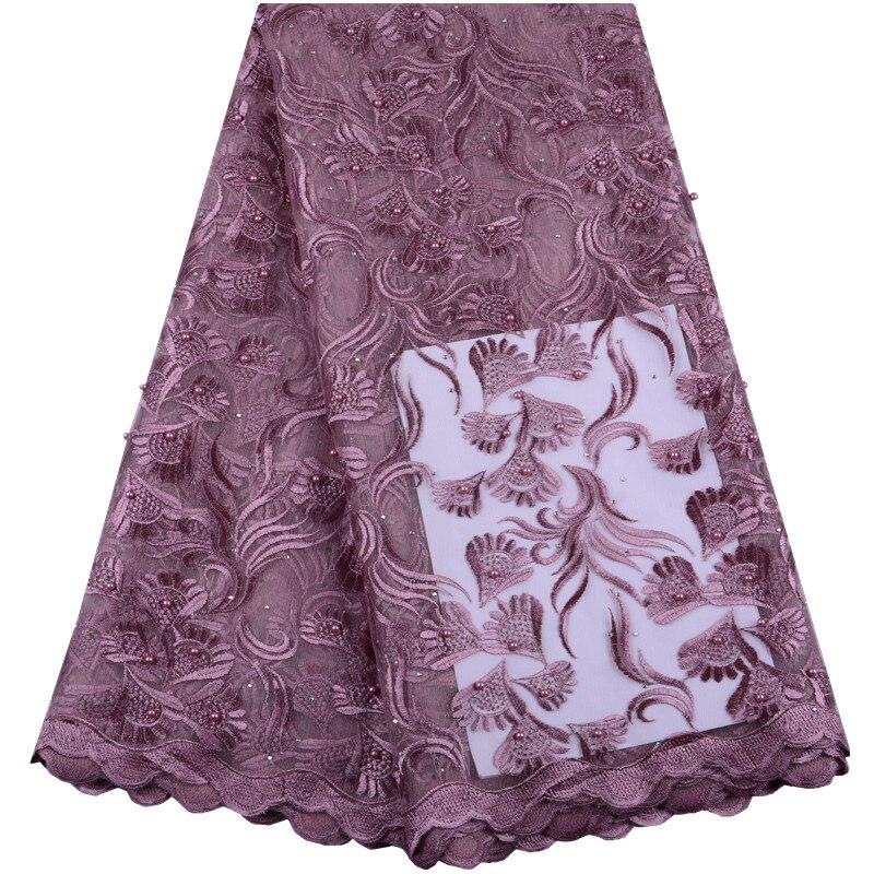 Tecido de renda nigeriano alta qualidade tecido de renda africano venda quente do casamento das mulheres cebolas cor francês tecido de renda a1447
